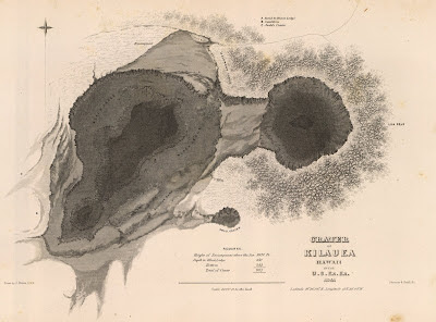 1845 Crater map - Hawaii