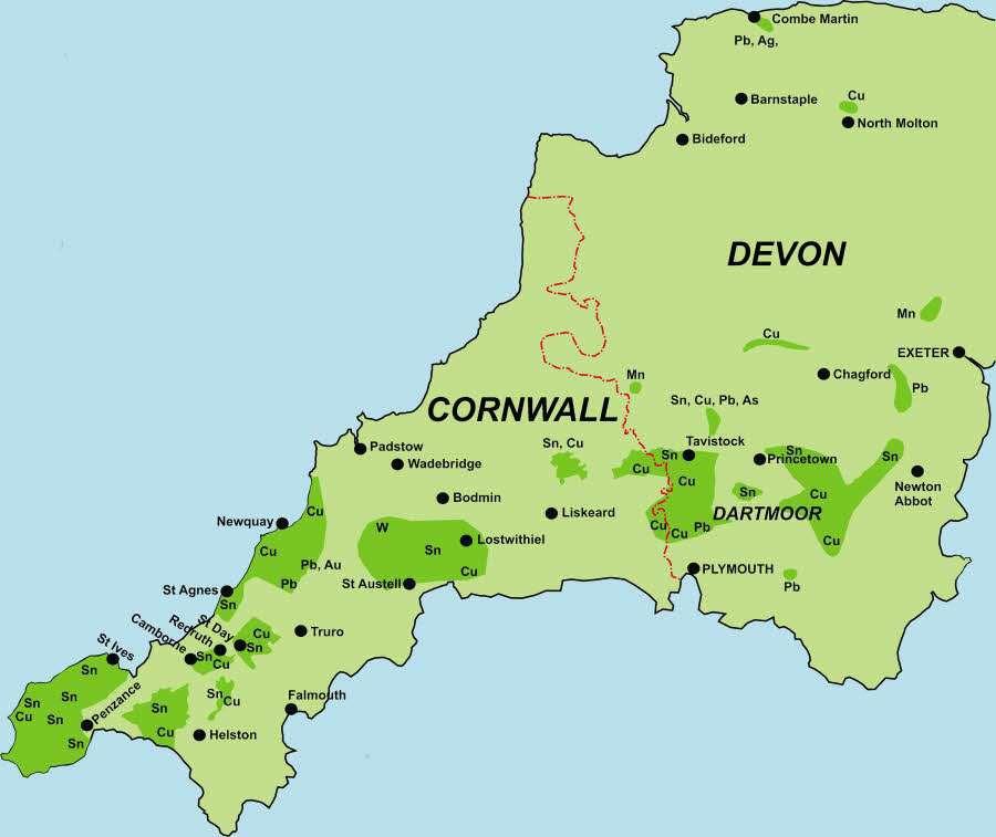 Map Of Devon And Cornwall Devon Cornwall Map | GOOGLESAND Map Of Devon And Cornwall