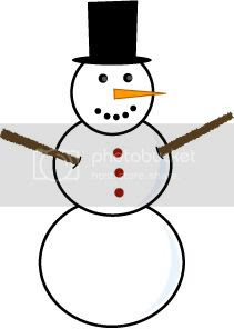 Kids building a snowman clipart picture for seasons greetings.