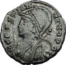 CONSTANTINE I the GREAT Founds Constantinople Original Ancient Roman Coin i65027