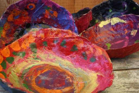 Paper Mache Bowls - a Gift for Kids to Make and Give - Happy Hooligans
