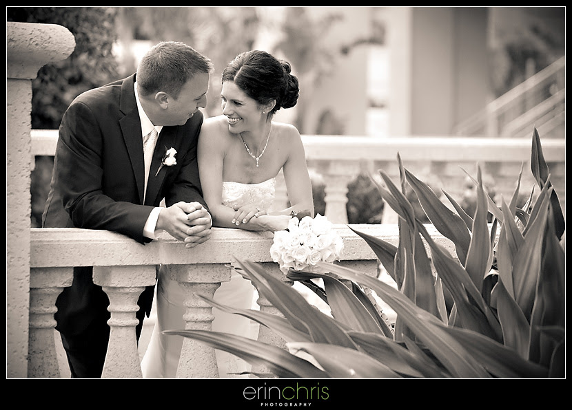 bride and groom shot at the tampa marriott