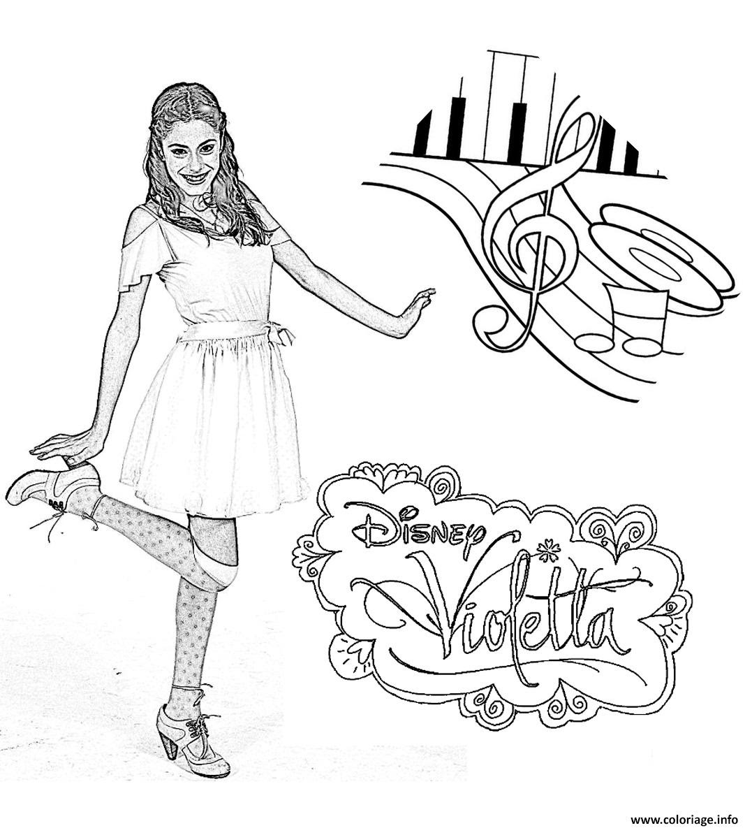 Coloriage Violetta Danse Notes Dessin   Imprimer