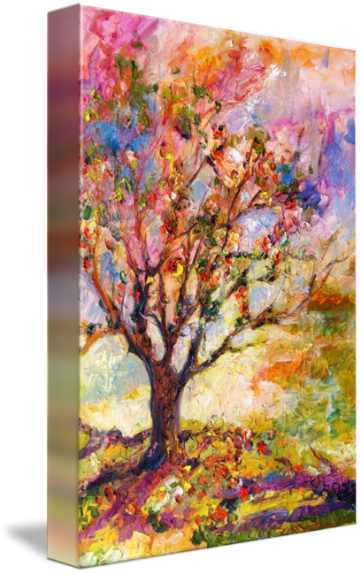 """Grandmother Apple Tree Oil Painting"" by Ginette Callaway"