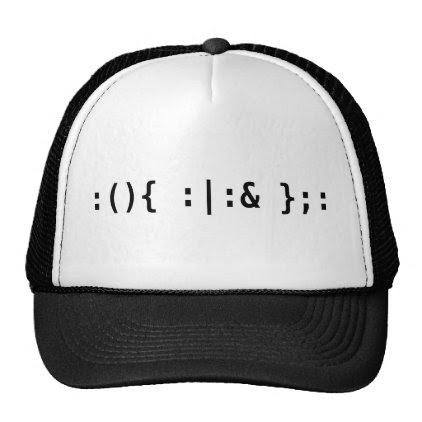 Bash Fork Bomb - Terminal Hacker Black Text Design Trucker Hat