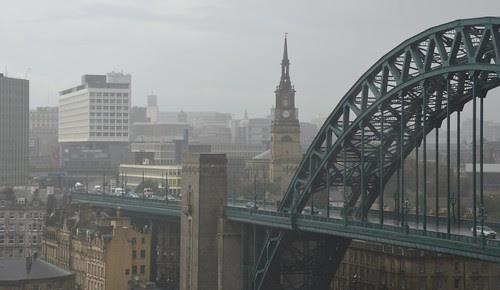 Newcastle in the rain