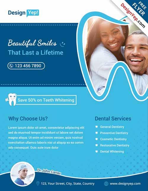 Free Dental Flyer PSD Template FreePSDFlyer com