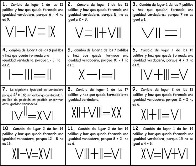 Matemáticas Solidarias Números Romanos Con Palillos