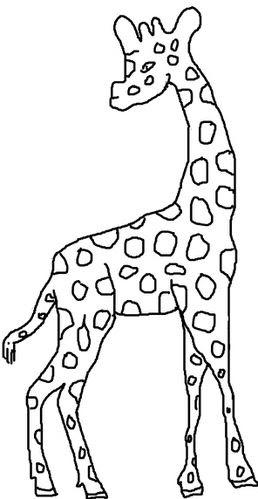 coloriage girafe - color