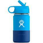 Hydro Flask Kid's Wide Mouth Stainless Steel Water Bottle & Straw Lid (Pacific)