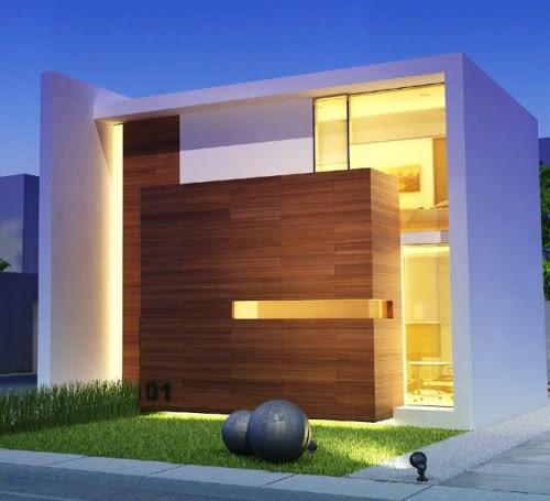 Rumah minimalis kontemporer model kubus (Sumber: Pinterest)