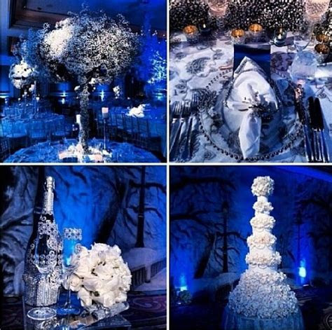 Blue and white wedding decor   Blue & Silver / White