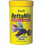Tetra BettaMin Tropical Medley Flakes - 0.81 oz jar