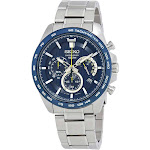 Seiko Chronograph Blue Dial Mens Watch SSB301P1