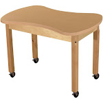 Wood Designs HPL2436C18C6 24 x 36 in. Mobile Synergy Junction High Pressure Laminate Table with Hardwood Legs - 18 in.