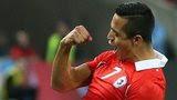Chile goalscorer Alexis Sanchez