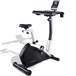 Upright Stationary Magnetic Laptop Tray Exercise Bicycle | Costway