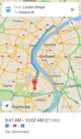 Sadan Far Du Google Maps Tilbage Pa Din Iphone