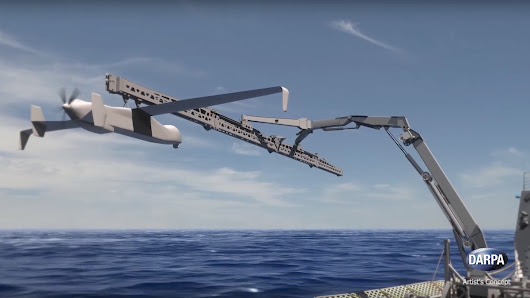 DARPA and the Navy Are Working on a Giant Drone Catcher - Motherboard