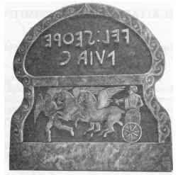 Lápida sepulcral con la inscripción: Vel Sethre y esposa