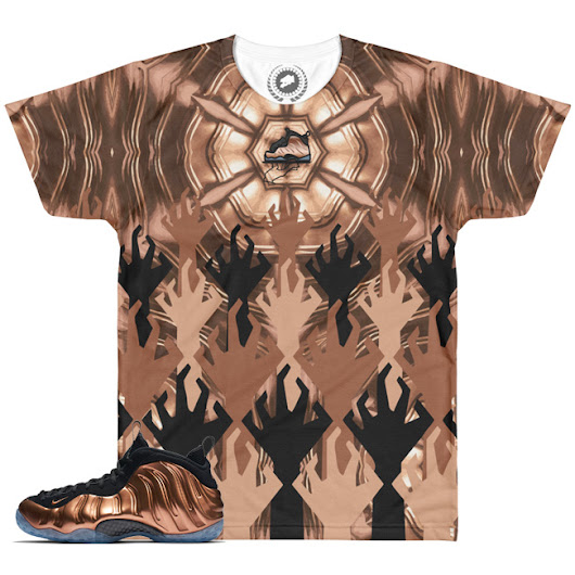 Copper Foamposite World War KickZ V2 SneakerMatch T-Shirt