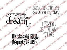 Visible Image Sunshine On A Rainy Day stamp set