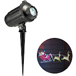Philips Christmas LED Holiday Scene Rotating Motion Projector