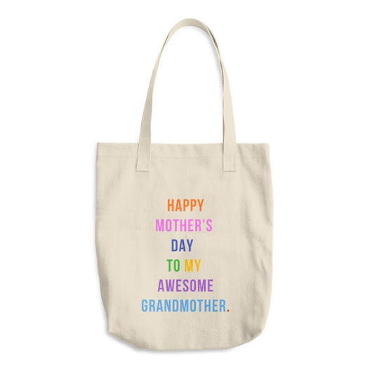 Grandmother Mother's Day Gift Reusable Grocery Tote Bag