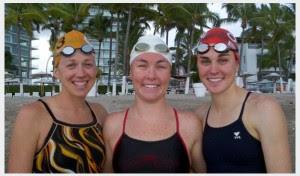Sara McLarty with Sarah Haskins and Gwen Jorgensen