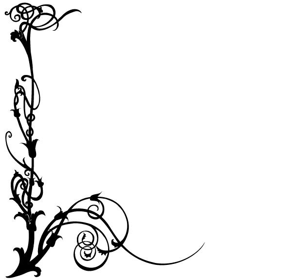 Black Floral Design Png
