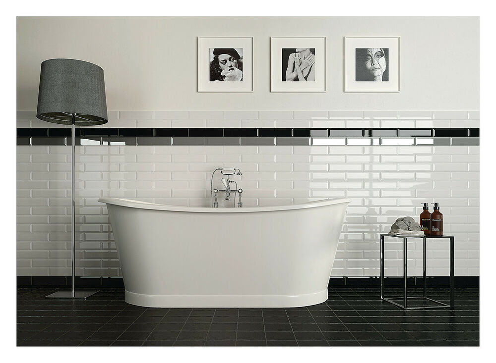 TILE DEALS / SAMPLES: London Metro XL Gloss White Bevelled ...