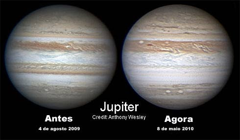 Júpiter sem a faixa equatorial