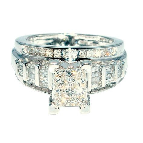 Princess Cut Diamond Wedding Ring 3 in 1 Engagement
