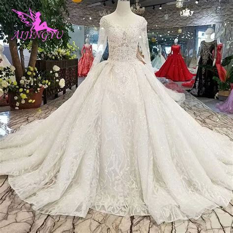 AIJINGYU Top Wedding Dresses Designers Bridal Gowns For