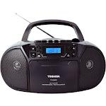 Toshiba - CD-RW/CD-R/CD-DA Boombox with AM/FM Radio - Black
