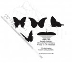 Butterfly Collection Silhouettes Yard Art Woodworking Pattern - fee plans from WoodworkersWorkshop® Online Store - butterflies,butterfly,yard art,painting wood crafts,scrollsawing patterns,drawings,plywood,plywoodworking plans,woodworkers projects,workshop blueprints
