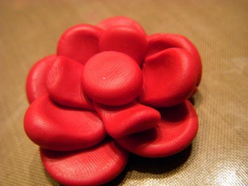 Polymer Clay Flower Pendant Step 5