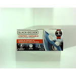 Black & Decker Compact Steam Iron IR20V - Variable Control, Steam Burst - Blue