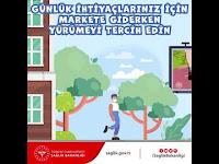 Günlük İhtiyaçlarınız İçin Markete Giderken Yürümeyi Tercih Edin - T.C. Sağlık Bakanlığı