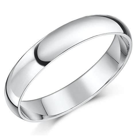 Palladium Wedding Ring Band Heavy Weight D Shaped   eBay