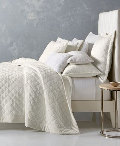 hotel collection trousseau cotton quilted king coverlet