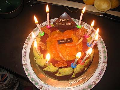 gâteau bougies