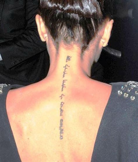victoria beckhams  tattoos  meanings body art guru
