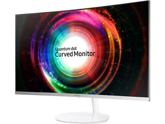 "Samsung C32H711 32"" WQHD 2K 2560 x 1440 FreeSync Metallic Silver Curved Gaming Monitor, Thin Bezel, Quantum Dot Technology, HDMI, Mini DisplayPort"