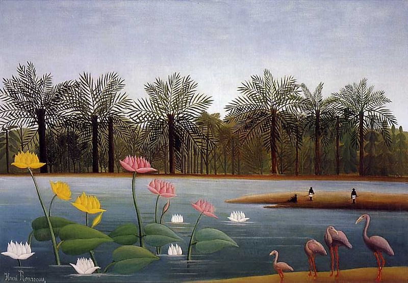 File:Henri Rousseau - The Flamingoes.jpg