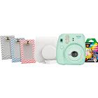 Fujifilm Instax Mini 9 Instant Film Camera - Mint Green - includes Bundle