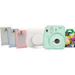 Fujifilm Instax Mini 9 Instant Film Camera - Mint Green - includes Bundle