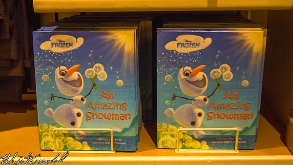 Disneyland Resort, Disney California Adventure, Frozen, Olaf, Book