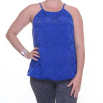 INC International Concepts Embroidered Halter Top Size M