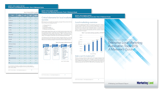 Enterprise Local Marketing Automation Tools -- New Marketing Intelligence Report